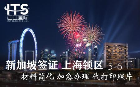 [上海送签]新加坡签证个人旅游自由行电子签代打照片(5-6工)